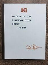 otter hunting Dartmoor hounds records rare Dart hunts