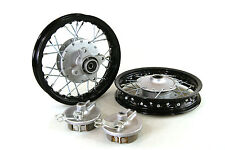 "Black Front & Rear Alum wheels rims 10"" 10 inch CRF50 XR50 Pit Bike Stock Drum"
