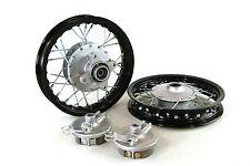 "Black Front & Rear Alum wheels rims 10"" 10 inch CRF50 XR50 Pit Bike Stock Drum"