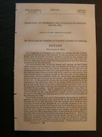 Government Report 1899 Promotion of Commerce & Increase of Foreign Trade ETC