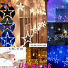 LED Star Curtain String Lights 12 Stars 138 LEDs Window Icicle DIY Holiday Party