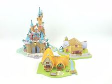 Disney polly pocket bluebird Enchanted Castle Minnie Fête Surprise Blanche Neige