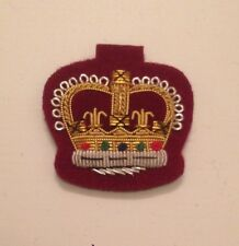 WO2 Crown, Warrant Officer, Mess Dress, Army, Medical Cherry, Crowns, RAMC
