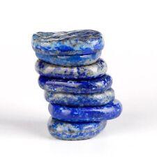 Genuine Lapis Lazuli chakra stones set 7pcs polished palm crystal stones