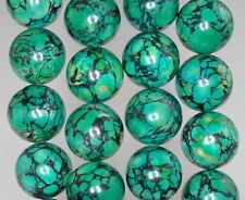 16MM GREEN TURQUOISE GEMSTONE ROUND 16MM LOOSE BEADS 8""