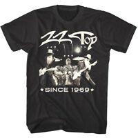 ZZ Top Live Since 1969 Men's T Shirt Vintage Photo Rock Band Concert Tour Merch