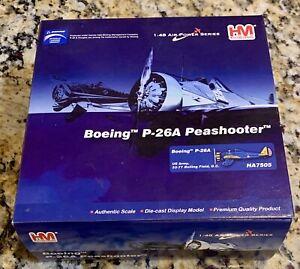 Hobbymaster HM Boeing P-26A US Army 33-77 Bolling Field DC 1:48 Diecast  HA7505