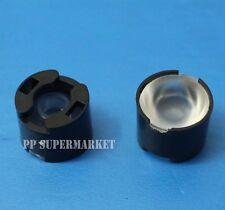 100pcs High Power LED lens 16mm convex lens pmma 90degree led lens black holder