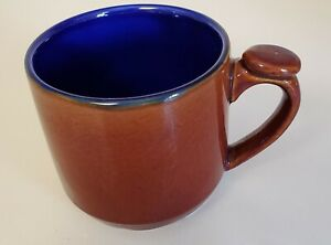 Lindt Stymeist Brown and Blue Thumb Rest Mugs/Cups  EUC