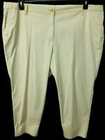 Talbots beige spandex stretch mid rise girlfriend chino tapered pants 22WP