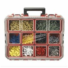 Milwaukee Portable Small Parts Organizer 10 Compartment Bins Tool Box Storage