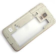 ORIGINALE Samsung Galaxy S5 G900 LATO POSTERIORE CHASSIS + fotocamera vetro + COPERTURA USB A GOLD