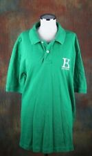 TOMMY HILFIGER MEN'S POLO XXL BIG LOGO GREEN AND YELLOW SLIM FIT