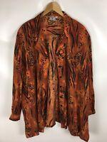 LAMBERTIONO Bluse, Vintage, mehrfarbig, Leoparden Print, Größe 58