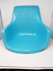 Unique Vintage Powder Blue Fiberglass Eames Herman Miller Style Chair Shell