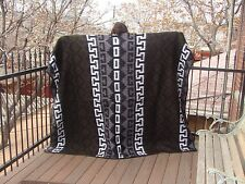 "#4906 Reclaimed Alpaca Wool Acrylic Mix Fiber Blanket 60""x84"" Eco Friendly Wrap"