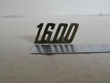 BADGE LOGO SCRITTA 1600 ALFA ROMEO FIAT VINTAGE