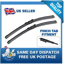 AUDI A3 S3 2004-2012 AERO FLAT WIPER BLADES 24-19 FOR PINCH TAB FITMENT