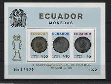 Ecuador 1974 Fußball Soccer Block 65 B postfrisch MNH Mundial de Football