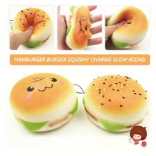 Soft Anti Stress Ball For Relaxing Nerves Hamburger Face Mood Toy Squeeze Balls