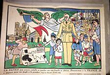 """IMAGERIE DU MARÉCHAL. """"DONNONS-NOUS A LA FRANCE"""".1941.STYLE IMAGE D'ÉPINAL."""
