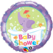 "BABY SHOWER PARTY SUPPLIES 18"" BABY SHOWER ELEPHANT QUALATEX FOIL BALLOON"