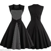 Plus Size S-4XL Women Cheap 50s Rockabilly Vintage Style Retro Party Swing Dress