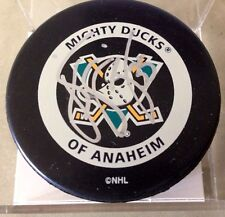 J.S. GIGUERE AUTOGRAPHED MIGHTY DUCKS of ANAHEIM HOCKEY PUCK