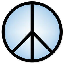 "Peace Sign liberal coexist blue car sticker 4"" x 4"""