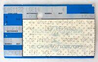 1987 DEF LEPPARD HYSTERIA WORLD TOUR TESLA CONCERT TICKET STUB LA SPORTS ARENA