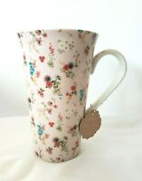 NEW Kent Pottery Ashley Grace Collection Coffee Tee Mug Large Floral Pattern