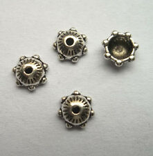 100pcs beautiful Tibet silver Flower End Beads Caps 2x6mm
