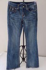 INC International Concepts Women's Blue Denim Regular Fit Boot Cut Jeans Size 2P