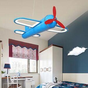 Aeroplane Pendant Light Blue Kids Bedroom Children Ceiling Decor Boys Nursery