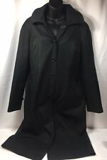 Delta Collection Airline Trench Coat Women's 8T Black w Hood Lion Uniform