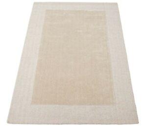 Beige 160x230 CM Carpet 100% Wool Oriental Rug Hand Woven HT333