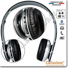 Casque Bluetooth Stéréo Sport Pliable Ecouteurs MP3 avec un micro intégré noir