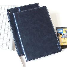 "Premium cuero cover Apple iPad pro 10,5"" Tablet funda bolsa case azul"
