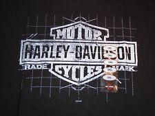 "Harley Davidson T-Shirt NEW NWT 3X XXXL ""Blue Print"" Black Bar & Shield McGuire"