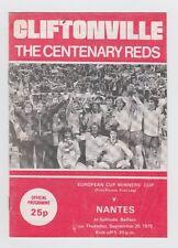 Orig.PRG   EC 2  1979/80  CLIFTONVILLE FC - FC NANTES  !!  SEHR SELTEN