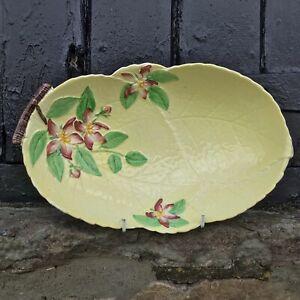 Vintage Carlton Ware Hand Painted Australian Design Apple Blossom Leaf Dish 27cm