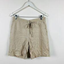 Regatta Womens Shorts Size 12 Pure Linen Made In Australia Beige Good Condition