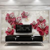 3D Photo Wallpaper Beautiful Jewelry Flower Bedroom Painting Wall Murals Decor