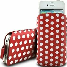 Polka Soft PU Leather Pull Tab Flip Case Cover For Samsung Galaxy Alpha