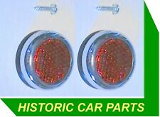Austin Healey 100 100M 1954-56 - RED REAR REFLECTORS to replace Lucas 57035