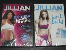 Extreme Shed & Shred & Hard Body Jillian Michaels Fitness Dvds New