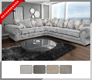 EXTRA EXTRA LARGE - Verona Corner Sofa - Scatter - Buttoned Arms Chesterfield