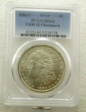 1880-S Silver Morgan Dollar $1 PCGS MS64 Vam 12 Checkmark Hit List