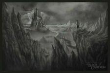 Disney Black Cauldron art print poster by Randy Ortiz.  Mondo.