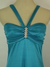 Windsor $80 Turquoise Evening Prom Formal Cruise Long Dress Size 9 Homecoming